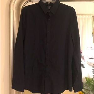 H&M Navy Dress Shirt